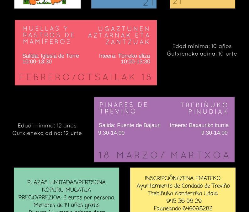 SALIDAS AL MEDIO NATURAL EN EL CONDADO DE TREVIÑO